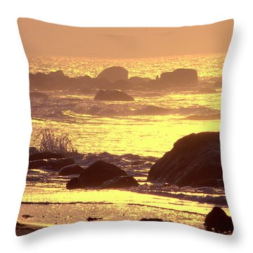 Throw Pillow featuring the photograph The Dawn Is Breaking  by Cindy Greenstein