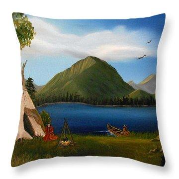 Dawn Of Tohidu Throw Pillow