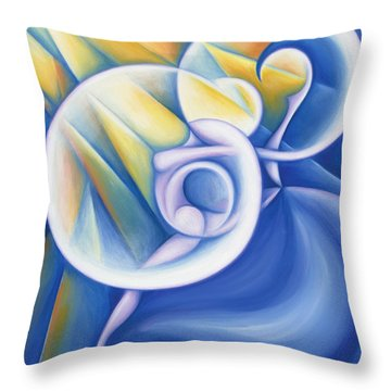 The Dawning Of Infinity Throw Pillow by Tiffany Davis-Rustam