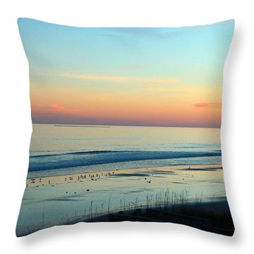 The Day Ends Throw Pillow
