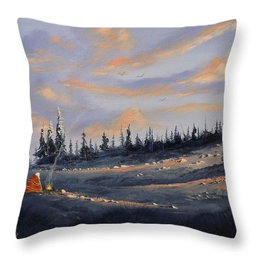 The Days End Throw Pillow