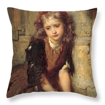 The Dead Goldfish Throw Pillow by George Elgar Hicks