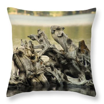 The Dead Shall Rise Throw Pillow by Donna Blackhall