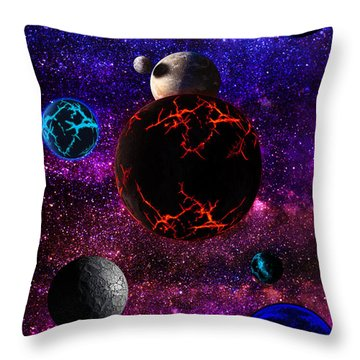 The Dead Solar System  Throw Pillow by Naomi Burgess