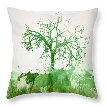 The Dead Tree Throw Pillow by Aged Pixel
