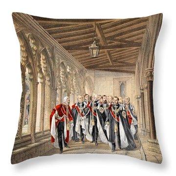 The Deans Cloister, Windsor, 10th Throw Pillow