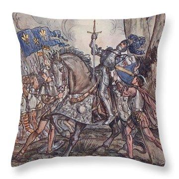 The Death Of Bayard, Illustration Throw Pillow