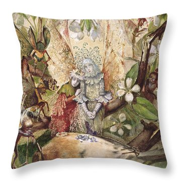 The Death Of Cock Robin Throw Pillow