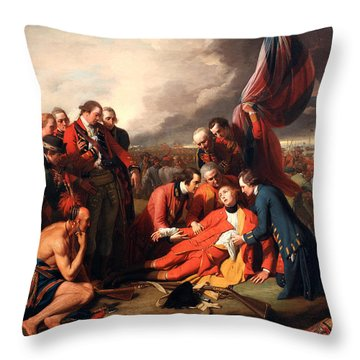 The Death Of General Wolfe Throw Pillow
