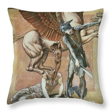 The Death Of Medusa I, C.1876 Throw Pillow by Sir Edward Coley Burne-Jones