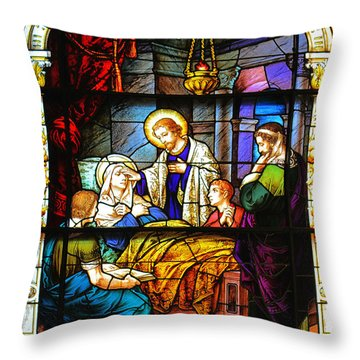 Throw Pillow featuring the photograph The Death Of St Monica St Augustine by Christine Till