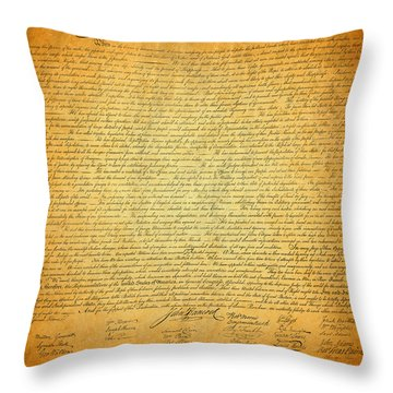 The Declaration Of Independence - America's Founding Document Throw Pillow by Design Turnpike