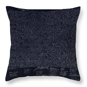 The Declaration Of Independence In Negative  Throw Pillow by Rob Hans