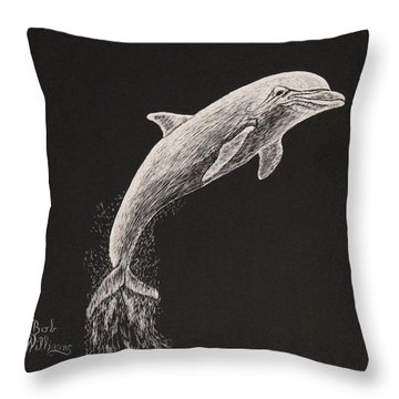 The Deep Ocean's Performer Throw Pillow