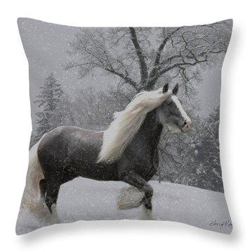 The Deep Snow Throw Pillow