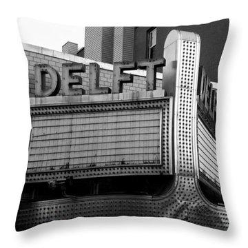 The Delft Marquette Mi Throw Pillow