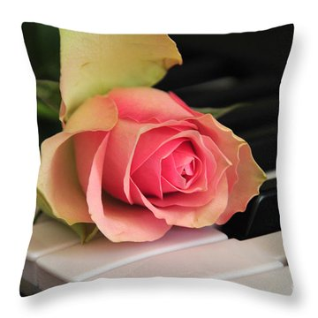 The Delicate Rose Throw Pillow by Randi Grace Nilsberg