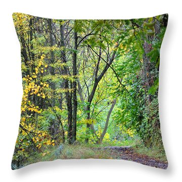The Dense Forest Throw Pillow by Guido Montanes Castillo