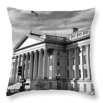 The Department Of Treasury Throw Pillow by Olivier Le Queinec