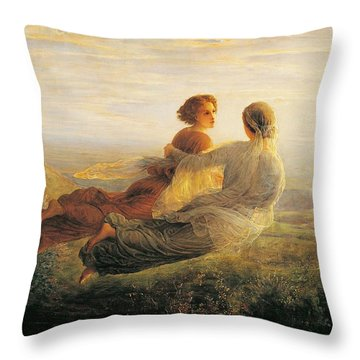 The Departure Of The Soul Throw Pillow by Louis Janmot