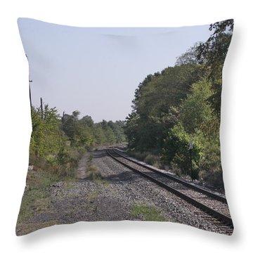 The Depature Throw Pillow by Mustafa Abdullah