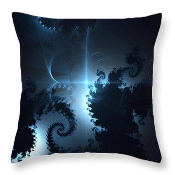 Throw Pillow featuring the digital art The Depths 2 by Arlene Sundby