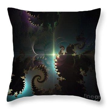 Throw Pillow featuring the digital art The Depths by Arlene Sundby