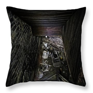 The Descent Throw Pillow by Brett Engle