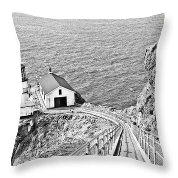 The Descent To Light Throw Pillow