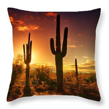 The Desert Awakens  Throw Pillow
