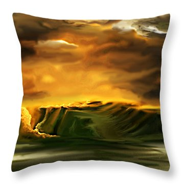 The Desertland Throw Pillow