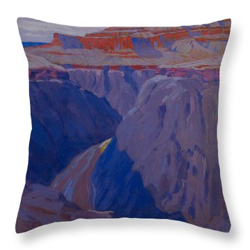 The Destroyer Throw Pillow by Arthur Wesley Dow