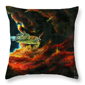 The Devil's Lair Throw Pillow by Murphy Elliott