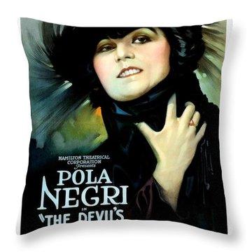 The Devil's Pawn Pola Negri Throw Pillow