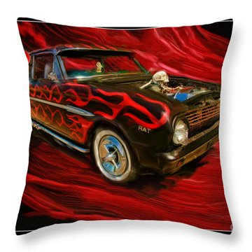 The Devil's Ride Throw Pillow