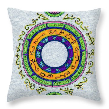 The Devils Trap Throw Pillow