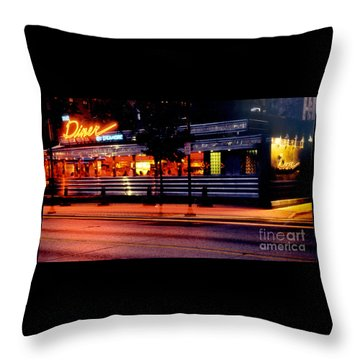 The Diner On Sycamore Throw Pillow by Gary Gingrich Galleries