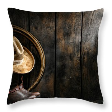 The Dirty Hat Throw Pillow by Olivier Le Queinec