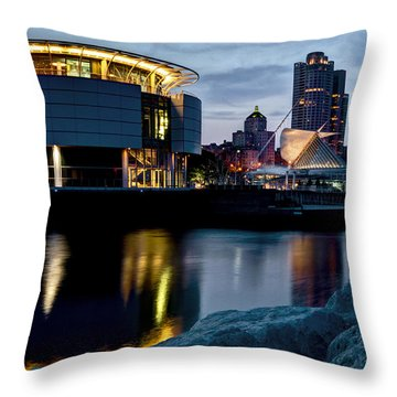 Throw Pillow featuring the photograph The Discovery Of Miwaukee by Deborah Klubertanz