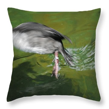 Throw Pillow featuring the photograph The Dive by Maggy Marsh