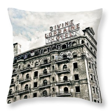 The Divine Lorraine Throw Pillow