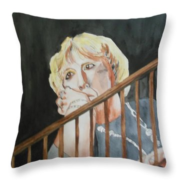 The Divorcee Throw Pillow by Esther Newman-Cohen