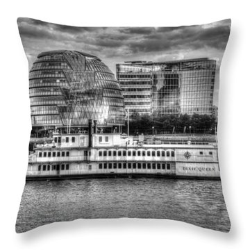 The Dixie Queen Paddle Steamer Throw Pillow