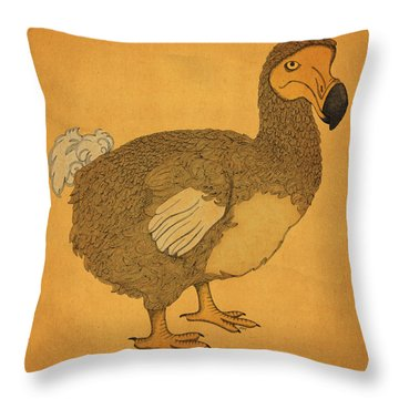 Throw Pillow featuring the drawing The Dodo by Meg Shearer