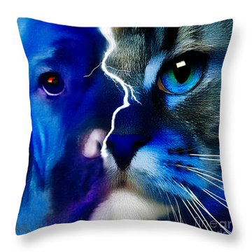 Throw Pillow featuring the digital art We All Connect by Kathy Tarochione