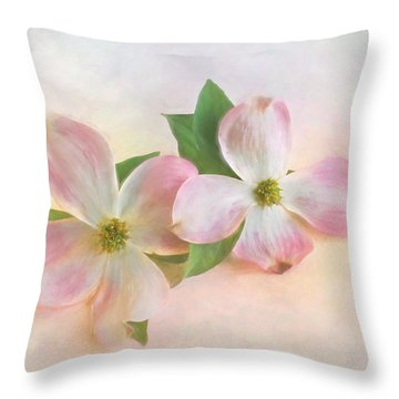 The Dogwood Blossom Throw Pillow