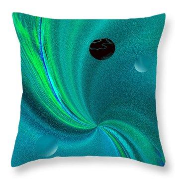 Dolphin Kiss Throw Pillow by Yul Olaivar
