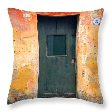 Throw Pillow featuring the photograph The Door by Bernardo Galmarini