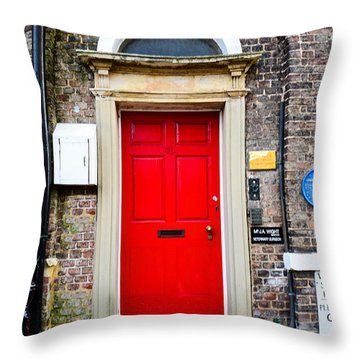 The Door To James Herriot's World Throw Pillow by Mary Carol Story
