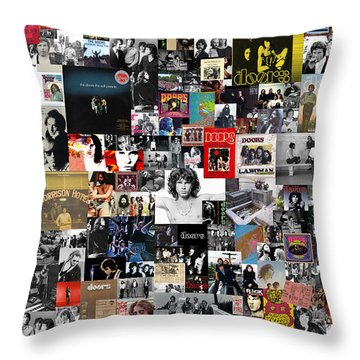 The Doors Collage Throw Pillow